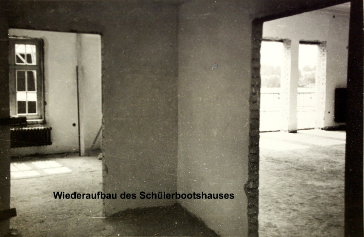 """Hamburger Schüler-Ruderverband, Schulbootshaus """"Am langen Zug"""" im Wideraufbau"""